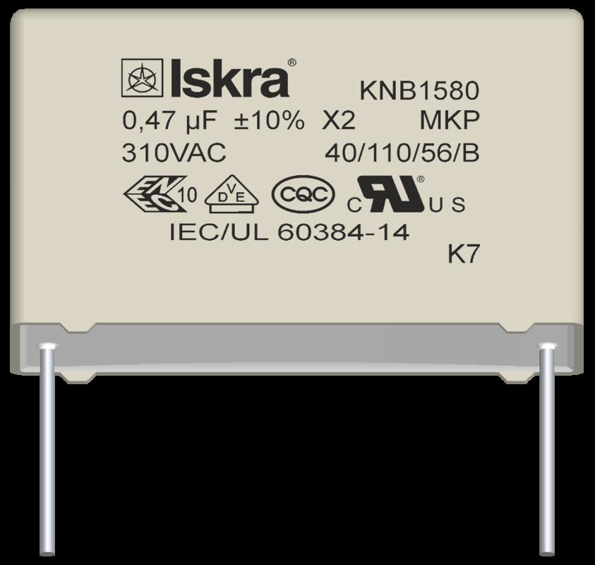 Iskra KNB1530 0,33uf 275Vac X2 Rfi Supresor PCB MTG
