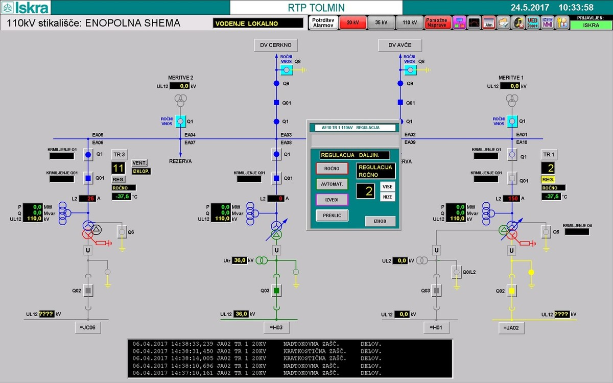 Control Data Acquisition Software MCE 940 - Automation and SCADA - Iskra