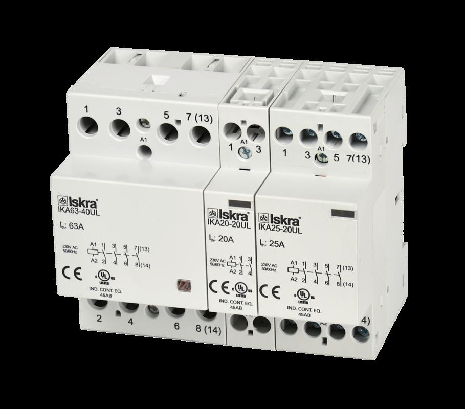 Installation contactors up to 63 A (IK UL) - Inštalacijski