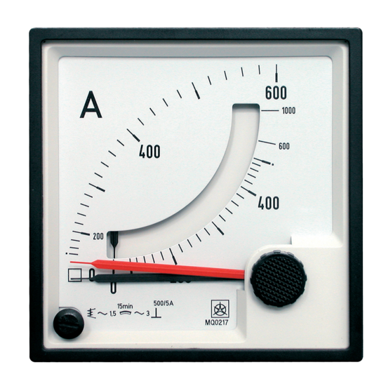 Combined Bimetal Maximum Current Meters MQ