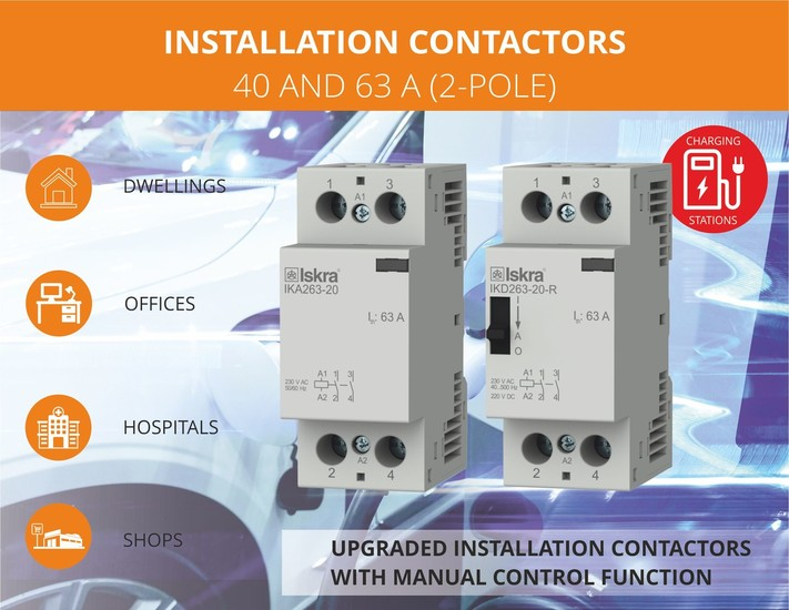 Installation Contactors 2-pole up to 63A